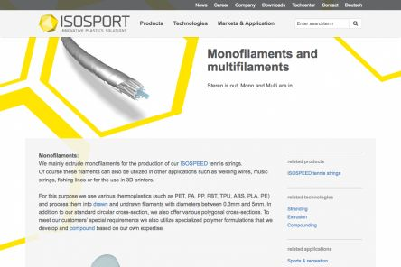 Monofilaments and multifilaments Page